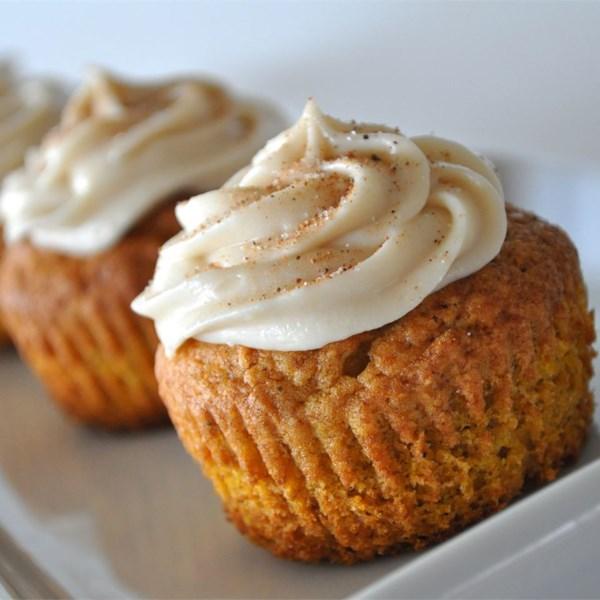 Receita de Cupcakes de Especiarias de Abóbora