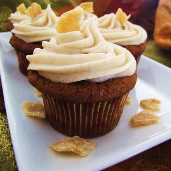 Receita de Cupcakes de Gengibre de Abóbora