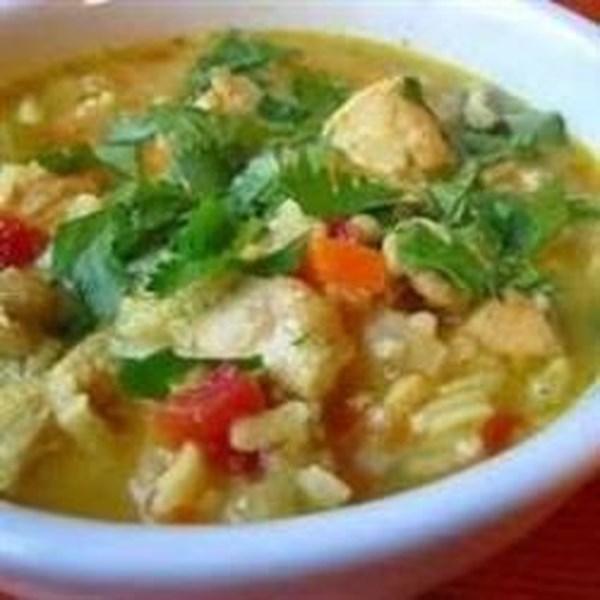 Receita de Sopa mulligatawny de frango