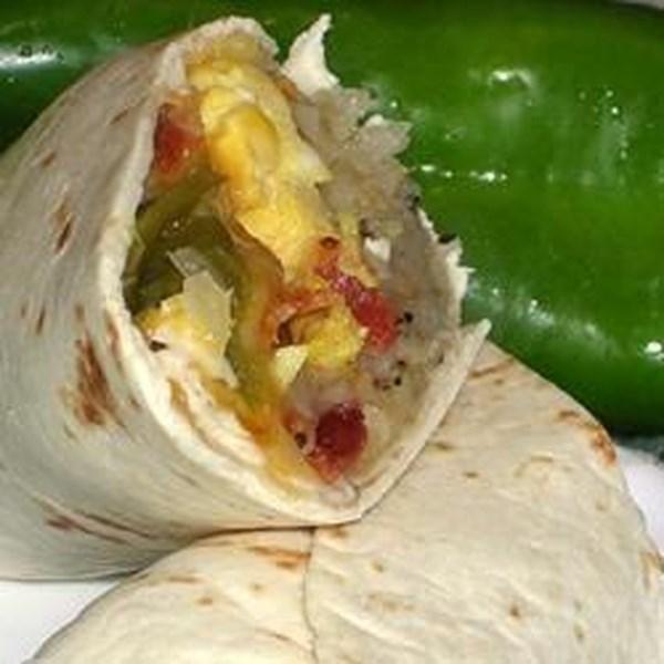 Receita de Burritos de Café da Manhã Verde do Novo México