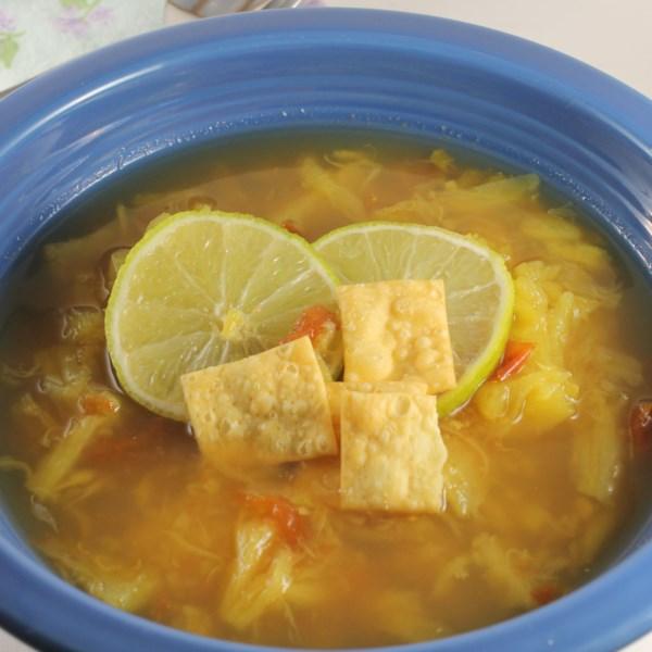 Receita de Sopa de Abacaxi, Limão e Gengibre