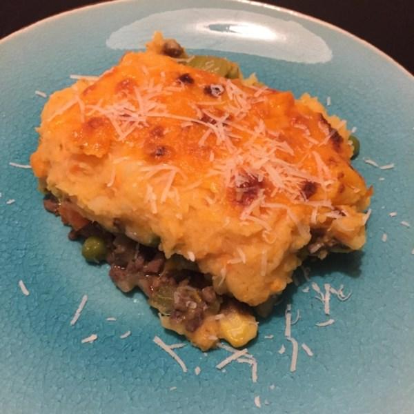 Torta de Pastor instantâneo com receita de batatas e inhame