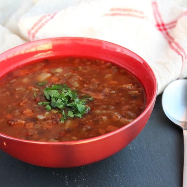 Receita de Sopa de Lentilha Grega Saudável