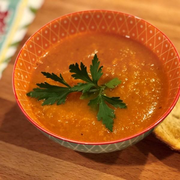 Receita de Sopa de Cenoura Vegana Instantânea (R)
