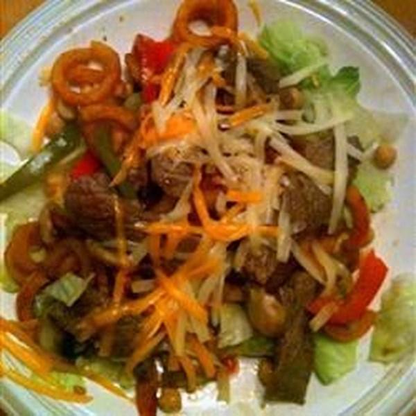 Receita de Salada de Filé Philly