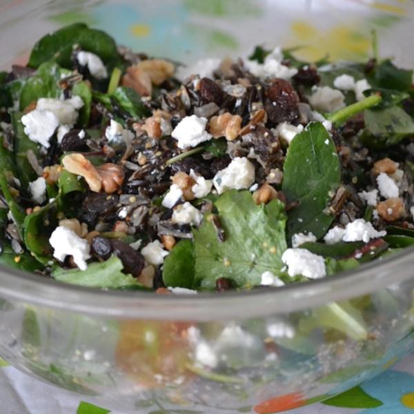 Receita de Salada de Arroz Selvagem e Couve de Ekaterina