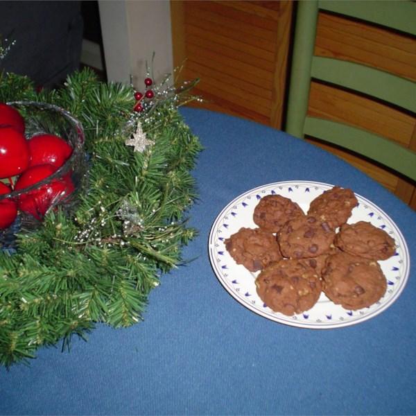 Mistura de biscoito de chocolate em uma receita de jarra