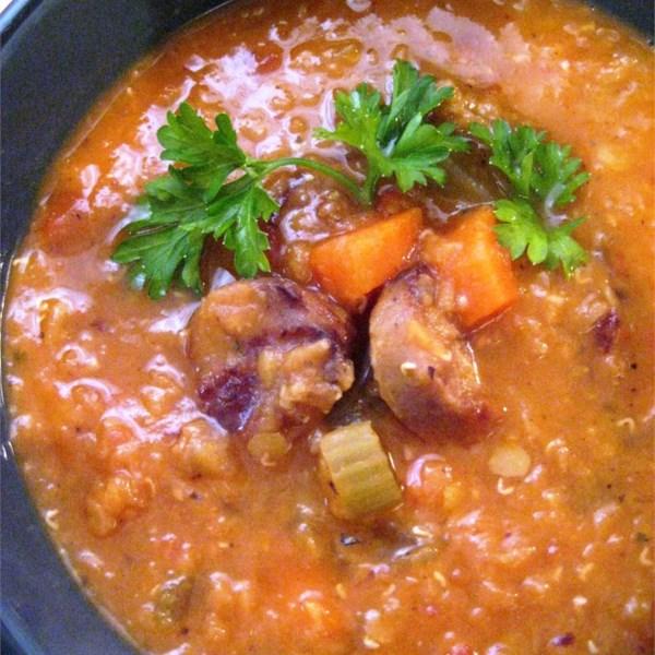 Receita de Sopa de Lentilha e Salsicha