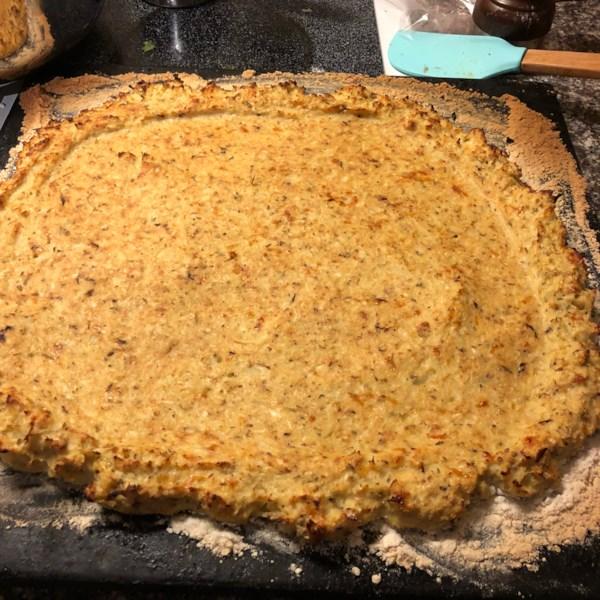 Receita de Crosta de Pizza de Amêndoa de Couve-Flor