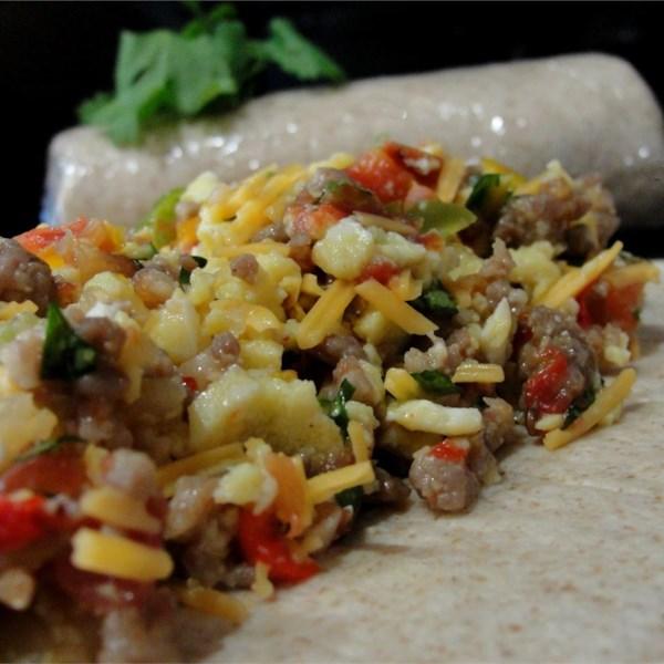 Receita de Burritos de Café da Manhã do Sudoeste