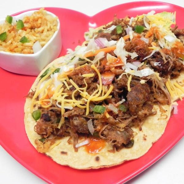 Receita de Tacos fajita de porco desfiado