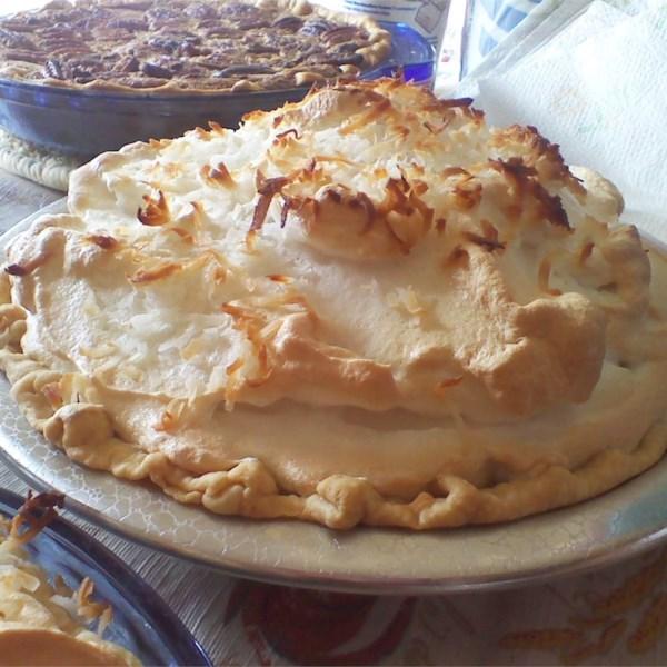 Receita de Torta de Merengue de Marshmallow de Coco