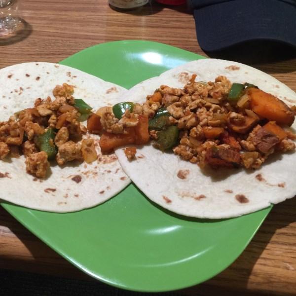 Receita de Tacos Picantes de Peru e Inhame
