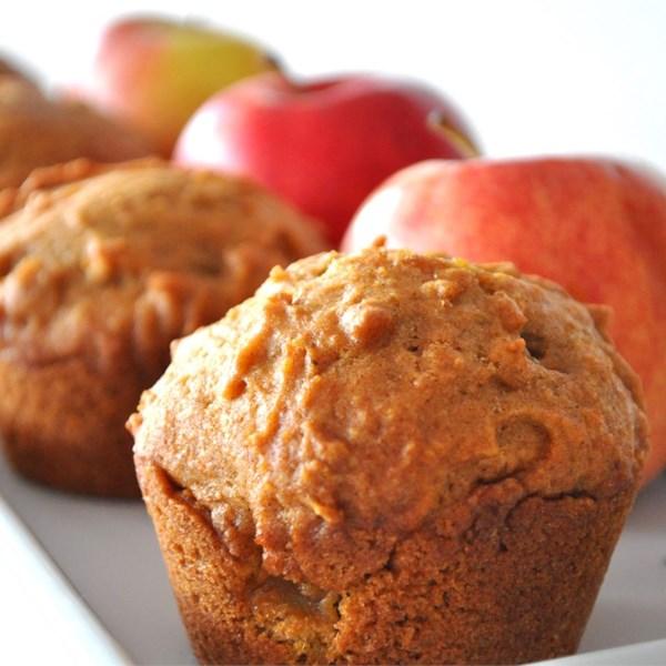Receita de Muffins streusel de maçã de abóbora