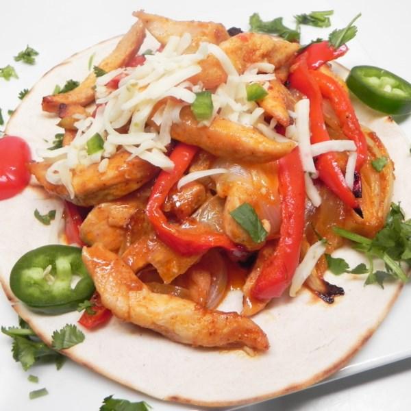 Receita fajitas de frango assado no forno