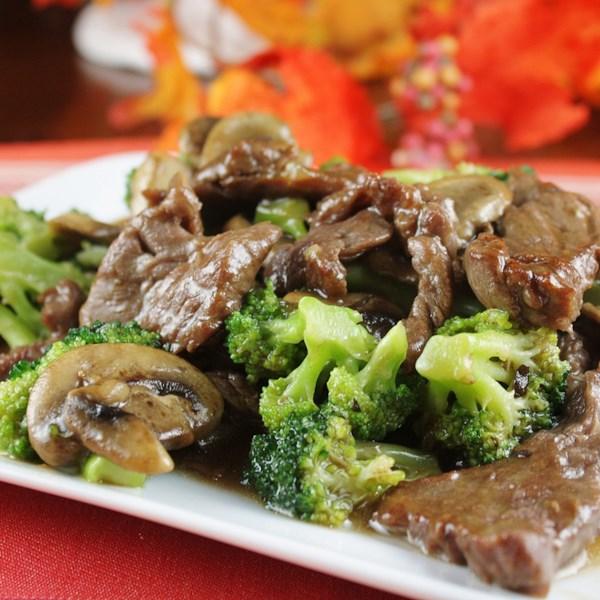 Receita de Carne de Brócolis Quente e Tangy