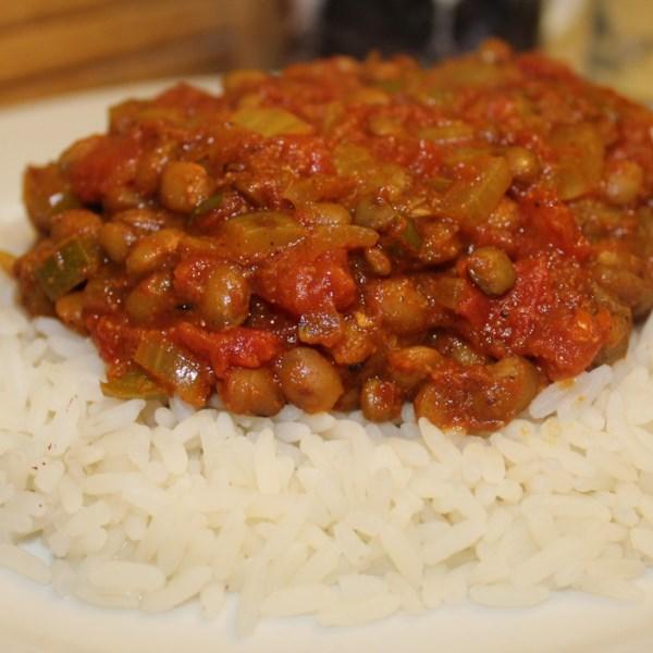Receita de Curry de Lentilha Verde Vegana