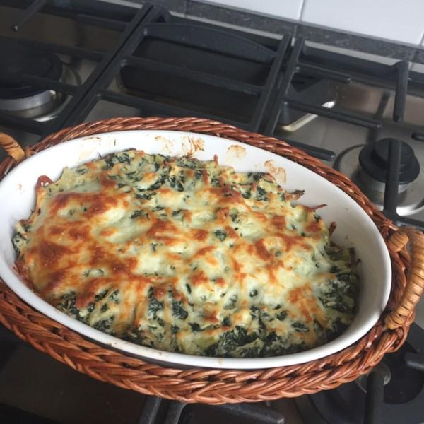 Receita de Molho de Alcachofra de Espinafre Quente do Chef John