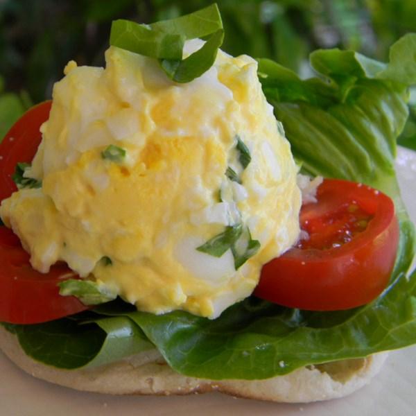 Receita de Sanduíche de Salada de Ovo de Tomate Basil