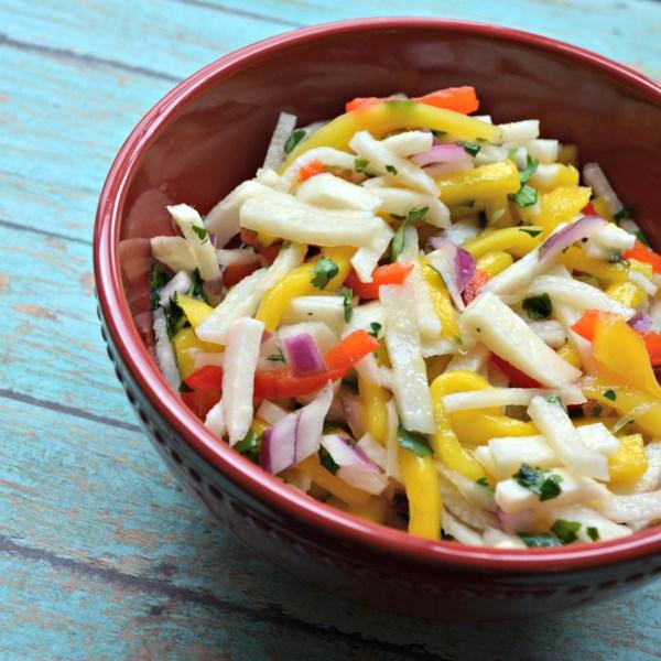 Salada de Manga Jicama com Coentro e Receita de Limão