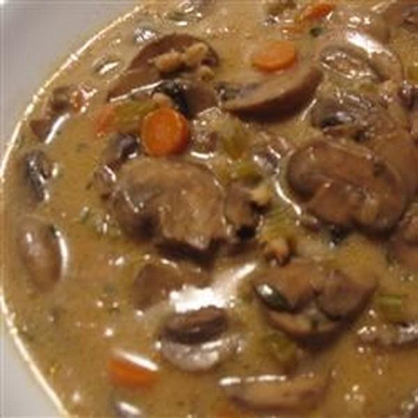 Receita de Sopa de Cevada, Lentilha e Cogumelo