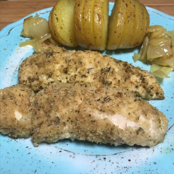 Receita de Frango parmesão de frango com manteiga