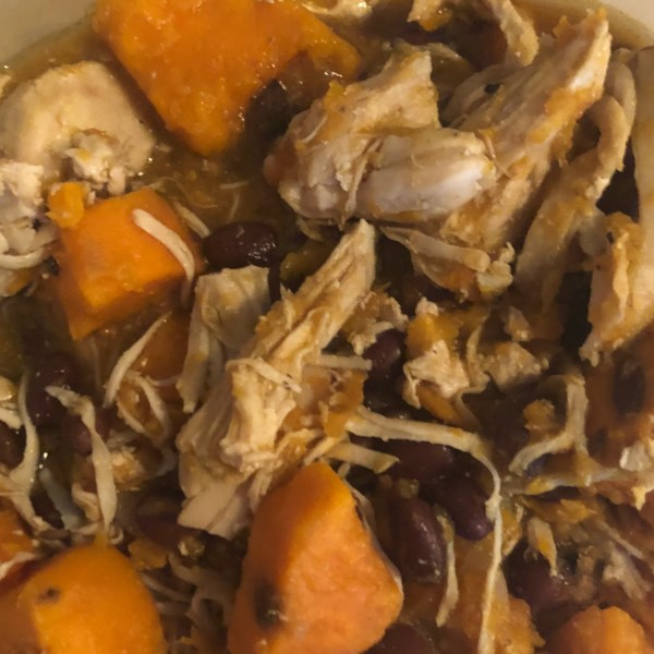 Receita de Frango, Batata Doce e Ensopado de Cogumelo