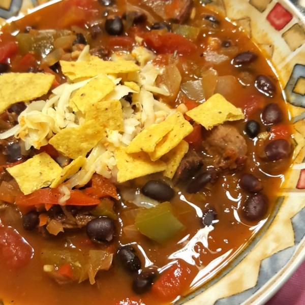 Receita de Sopa de Bife Fajita