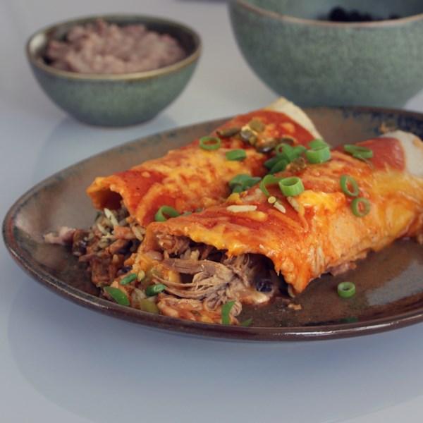 Receita de Enchiladas de Carne Cozida Lenta de Tequila