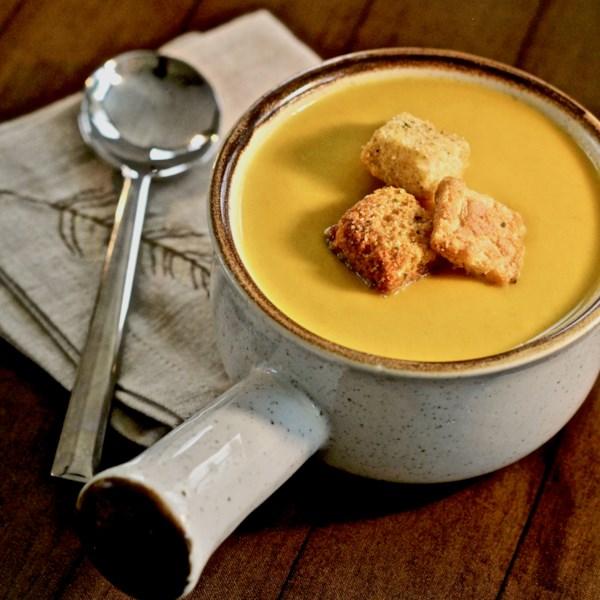 Receita de Abóbora com Manteiga com Curry e Sopa de Pêra