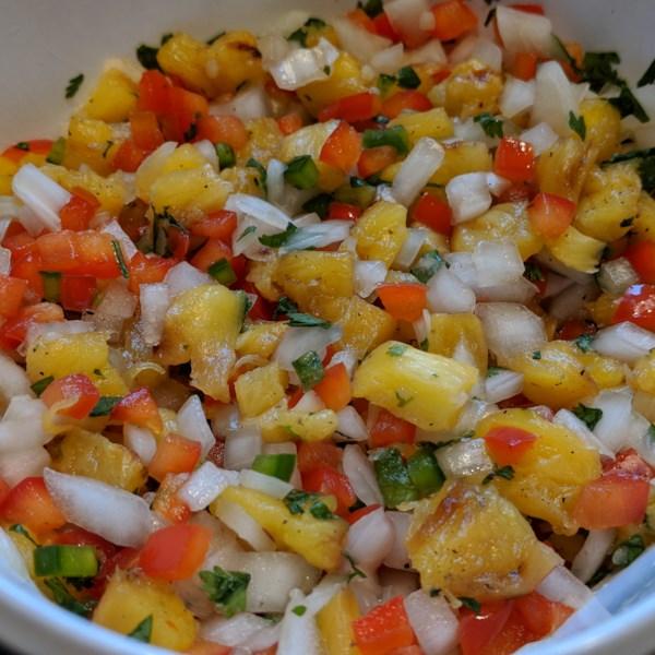 Receita de Salsa de Abacaxi Grelhado