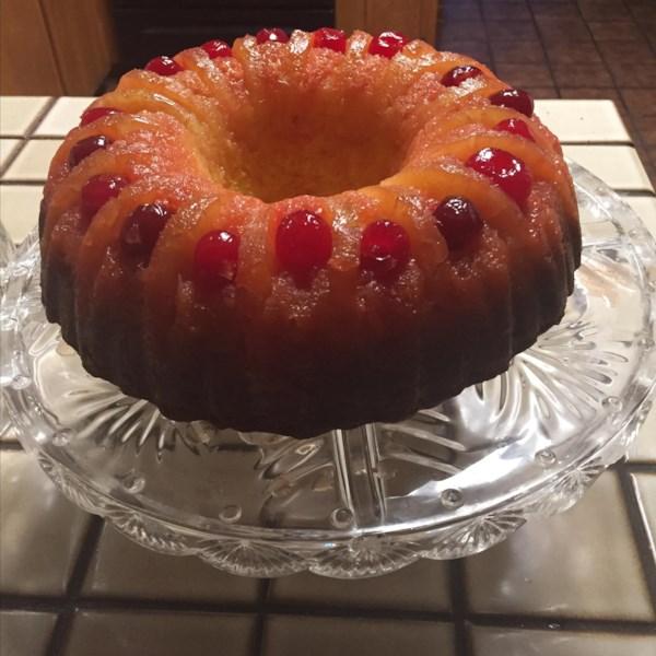 Receita de bolo de abacaxi de cabeça para baixo(R)