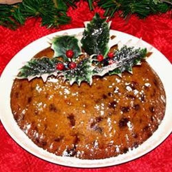 Receita de Pudim de Natal cozido no vapor