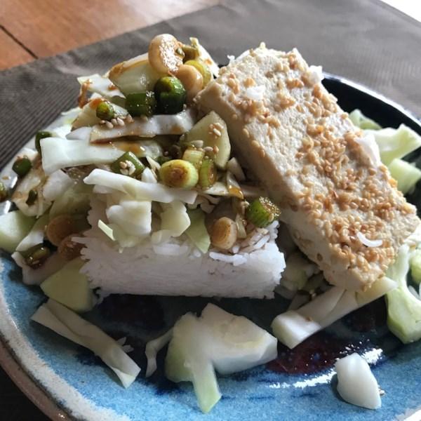 Receita de Tigela de Salada de Tofu Picante
