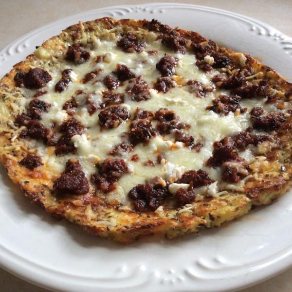 Receita de Pizza Pessoal rápida e fácil da crosta de couve-flor