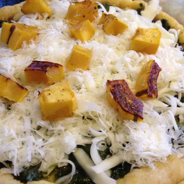 Pizza Vegetariana com Pesto e Receita de Abóbora Delicata