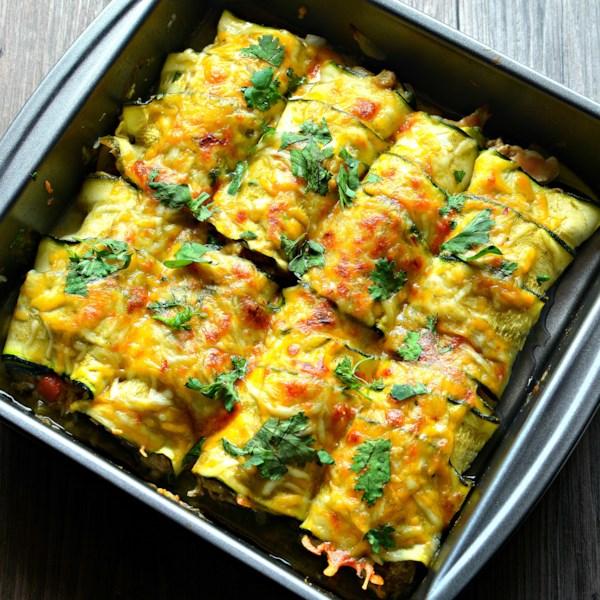 Receita de Enchiladas de Abobrinha de Frango