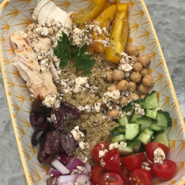Receita do Greek Chicken Quinoa Bowl
