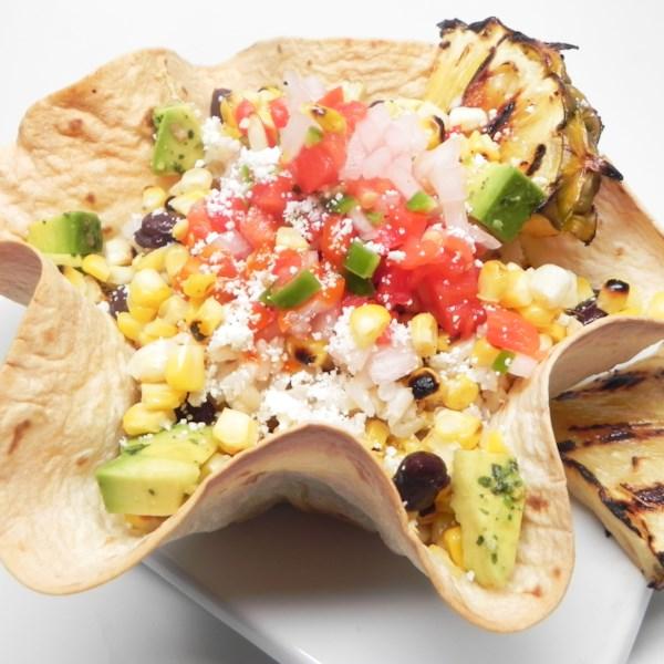Elote Bowl com Receita de Abacaxi Grelhado