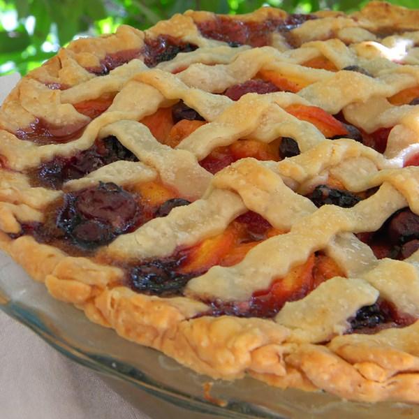Verão é aqui Receita de Torta de Pêssego de Amora Triplo