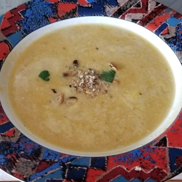Receita de Sopa de Abóbora de Abóbora Assada