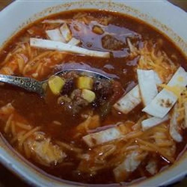 Receita de Sopa de Enchilada de Carne