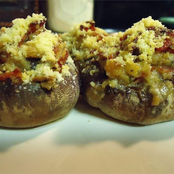 Receita de Cogumelos Recheados de Pepperoni