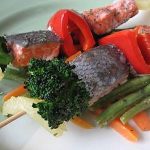 Receita de Kabobs de Peixe Gengibre