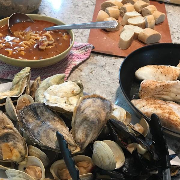 Receita medley de frutos do mar mediterrâneo