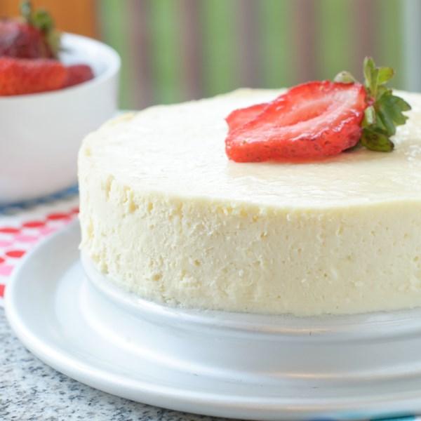 Receita de cheesecake instantâneo sem açúcar sem açúcar baixo teor de açúcar