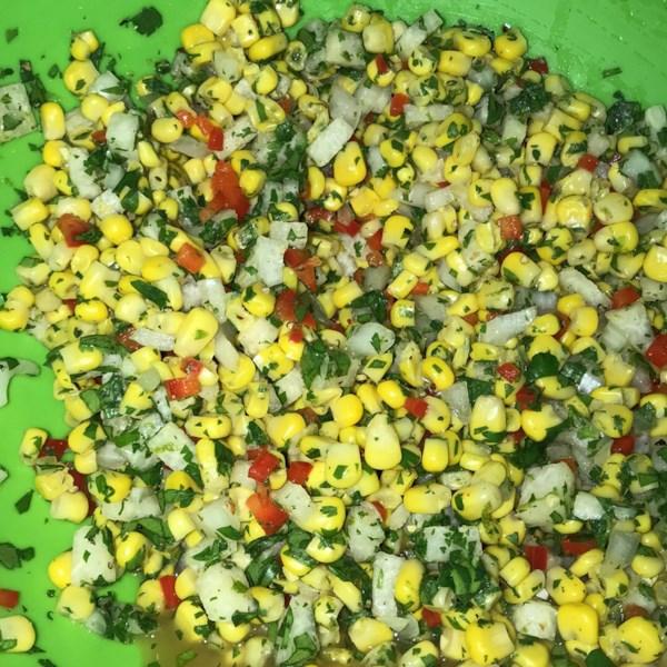 Receita de Salada de Milho Jicama