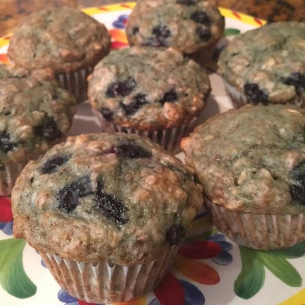 Receita de Muffins de Mirtilo de Nozes da Saúde