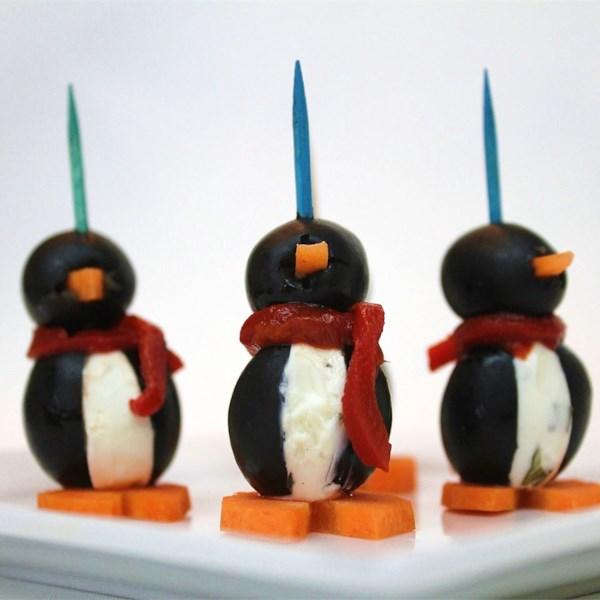 Receita de Pinguins de Queijo Creme