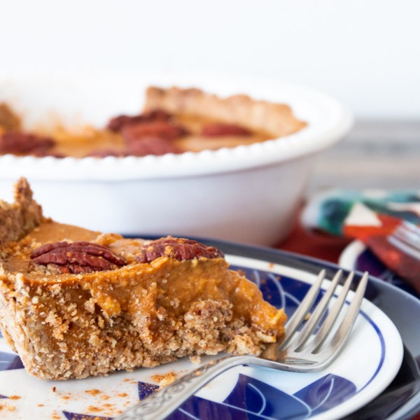Torta de abóbora com receita de crosta de nozes